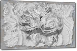 Розы из гипса