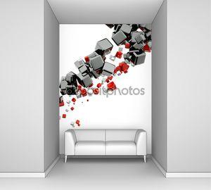 Абстрактный фон с кубами