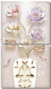Тюльпаны в белой вазе