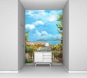 Красивый вид с балкона на Итальянский берег