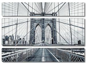Чёрно-белый Бруклинский мост