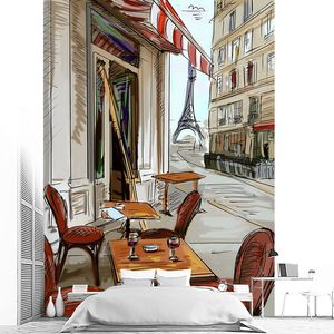 Рисунок парижского кафе