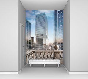 Вид на небоскребы с балкончика