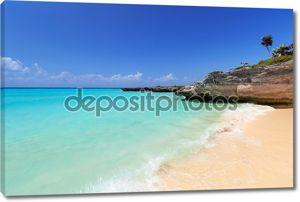 Карибское море пляжа в Плайя-дель-Кармен