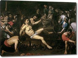 Булонь Жан-Валантен де. Мученичество святого Лаврентия
