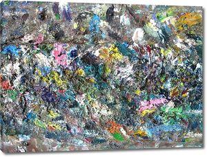 Flowed paint on canvas. vintage texture