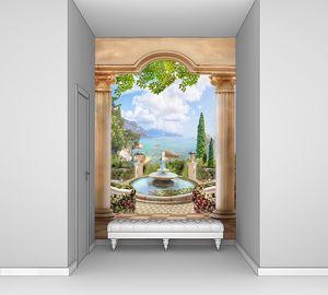 Вид с веранды на чудесный сад