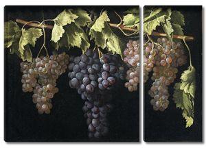 Хуан Фернандес. Натюрморт с четырьмя гроздьями винограда