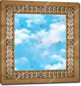 Небо в квадратном обрамлении