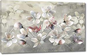 Небольшие цветы в акварели