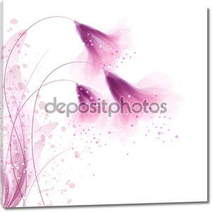 Векторный фон с цветами