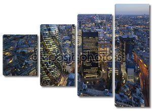 Горизонт Лондонского Сити на закате
