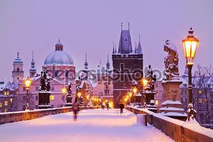 Карлов мост, старая городская башня моста, Прага (ЮНЕСКО), чешский язык