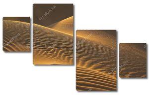 Песчаные дюны в вечернее солнце
