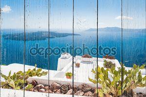 Красивая терраса с видом на море