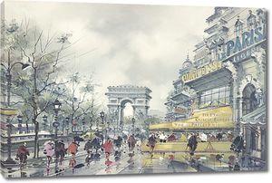Дождливый день в прекрасном Париже