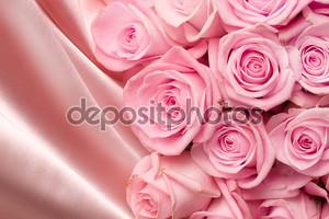 Bridal Bouquet On Silk