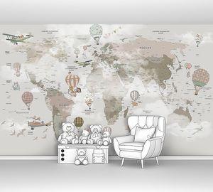 Детская карта мира «Аэро»