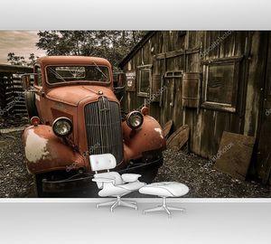 Джером Аризона город-призрак красный грузовик