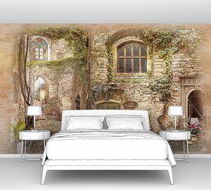Старые стены с окнами