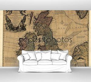 Винтажная старая карта
