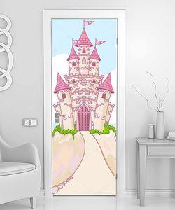 Розовый замок с дорогой
