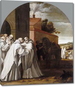 Кардучо Висенте. Святой Бернард Клервоский посещает картезианский монастырь и Гуго I