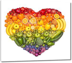 сердце фруктов и овощей