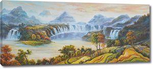 Озеро с водопадом