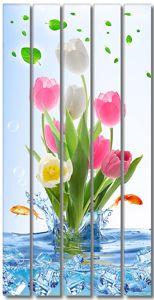 Тюльпаны в воде со льдом