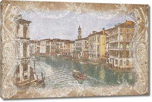 Фотография в рамке с Венецией