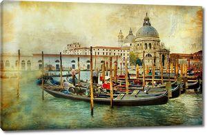 Старинная фреска набережной Венеции