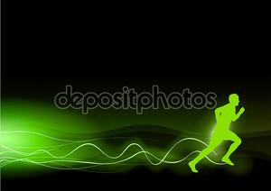 Зеленый бегун