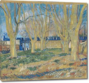 Ван Гог. Аллея с платанами у Арльского вокзала