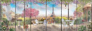 Уличное кафе с видом на Эйфелеву башню