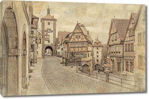 Старинная фотография города