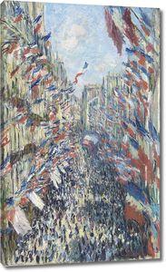 Клод Моне. Улица Монторгей в день праздника 30 июня 1878 г.
