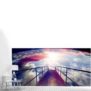 Ворота неба и пола или небольшой фон моста