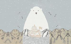 Белый медведь с корабликом