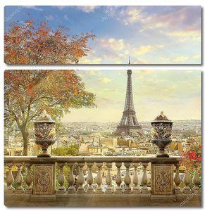 Панорама Парижа с террасы