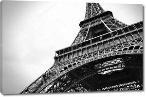 Эйфелева башня черно-белая красота