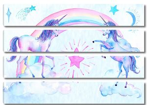 Единороги с радугой