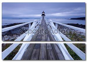 Порт Клайд - Маршалл Пойнт Маяк на закате, Мэн, США