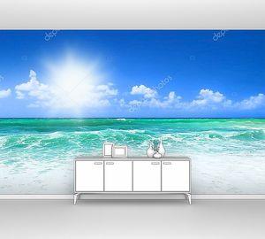 Голубой пляж