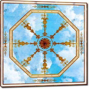 Небо с восьмиугольным узором