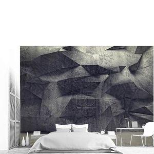 Серая стена из геометрических фигур