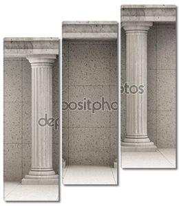 Классический древний интерьер с колоннами