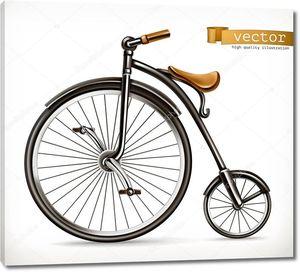 Велосипедов ретро. значок 3D вектор