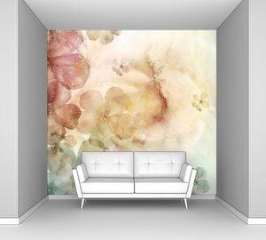Акварельный фон с цветами
