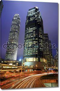 Гонконгская ночь со светофорами